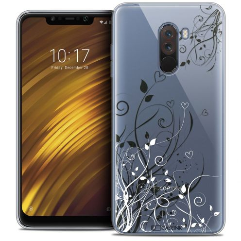 "Extra Slim Crystal Gel Xiaomi Pocophone F1 (6.18"") Case Love Hearts Flowers"