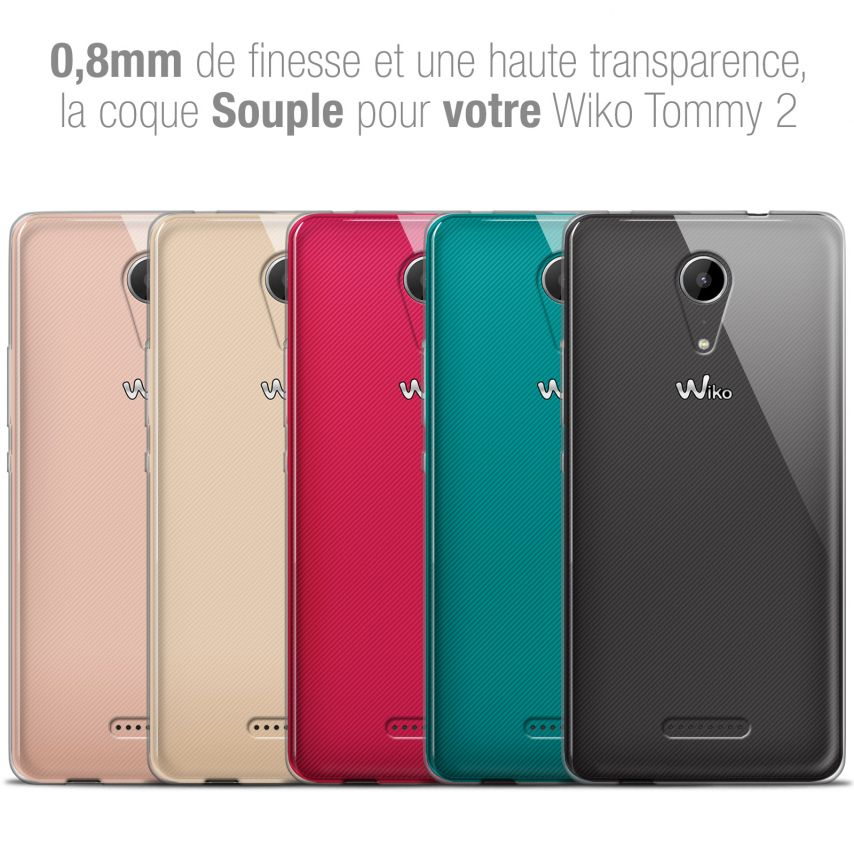 """Extra Slim 1mm Crystal Clear View Flexible Case Wiko Tommy 2 (5"""")"""