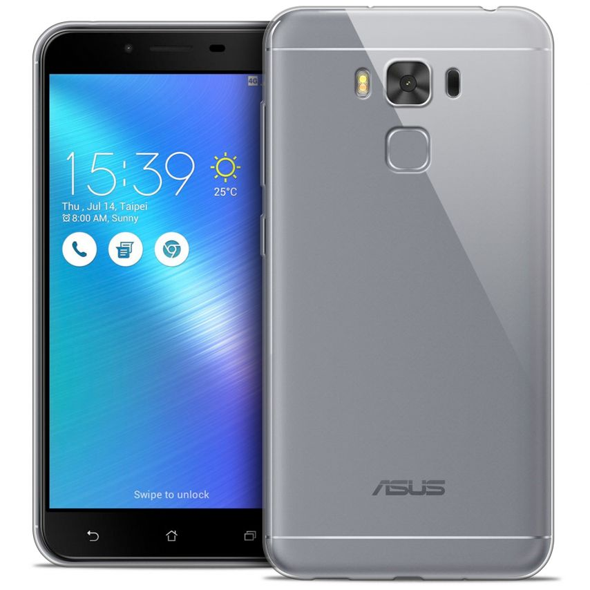 "Extra Slim 1mm Crystal Clear View Flexible Case Asus Zenfone 3 Max Plus ZC553KL (5.5"")"