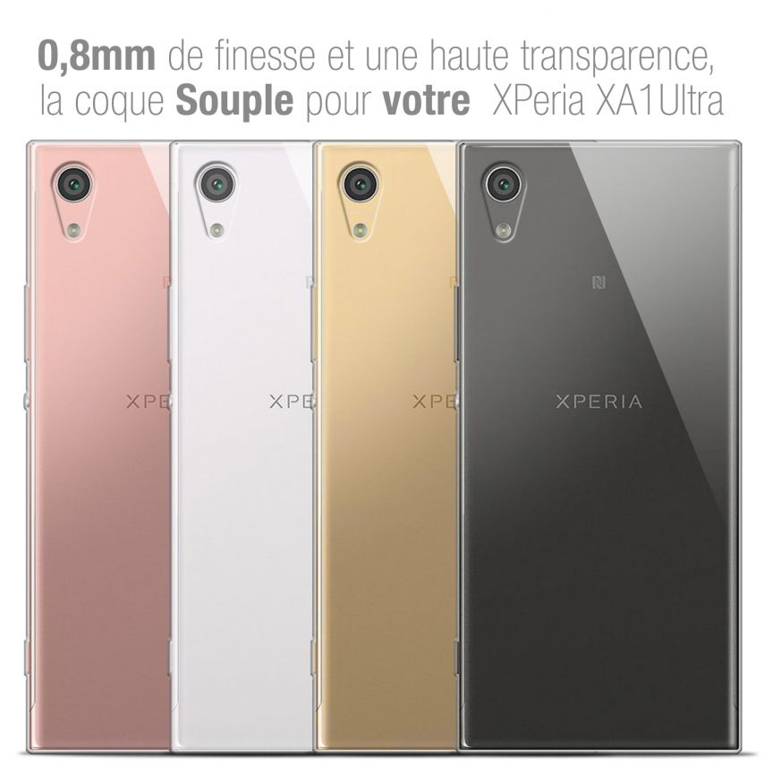 """Extra Slim 1mm Crystal Clear View Flexible Case Sony Xperia XA1 Ultra (6"""")"""