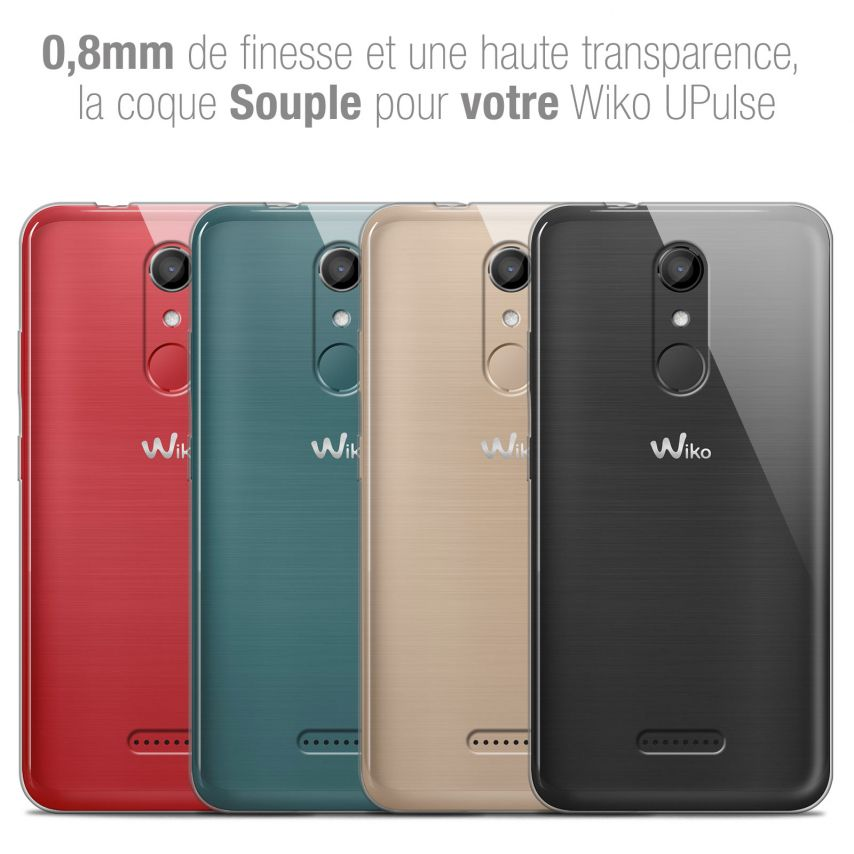 """Extra Slim 1mm Crystal Clear View Flexible Case Wiko U Pulse (5.5"""")"""