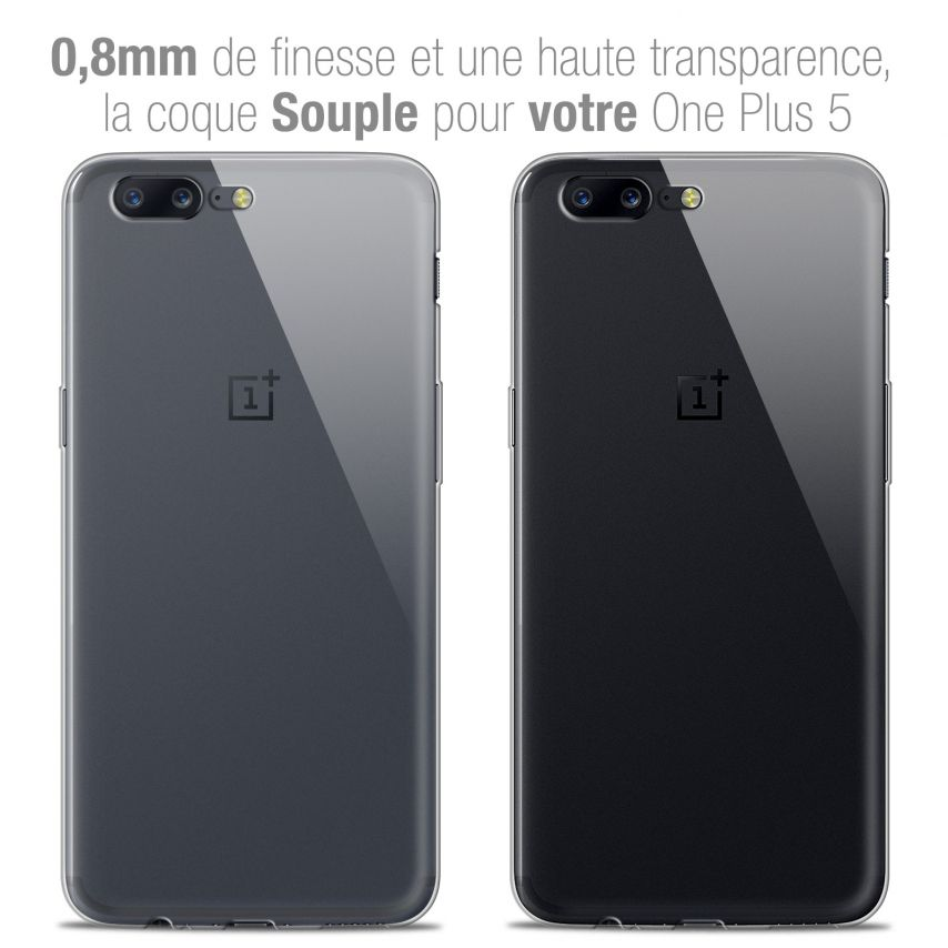 """Extra Slim 1mm Crystal Clear View Flexible Case OnePlus 5 (5.5"""")"""
