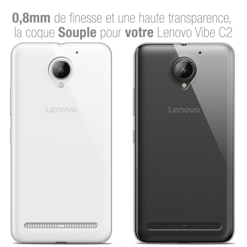 "Extra Slim 1mm Crystal Clear View Flexible Case Lenovo C2 K10A40 (5"")"