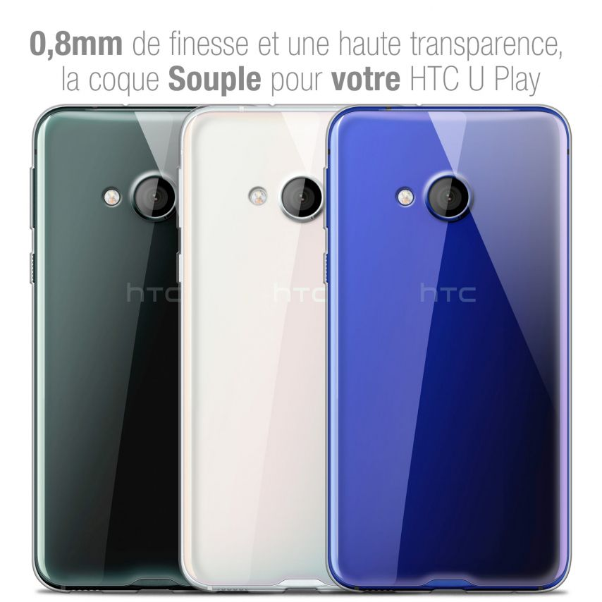 Extra Slim 1mm Crystal Clear View Flexible Case HTC U PLAY