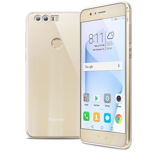 """Extra Slim 1mm Crystal Clear View Flexible Case Huawei Honor 8 5.2"""""""