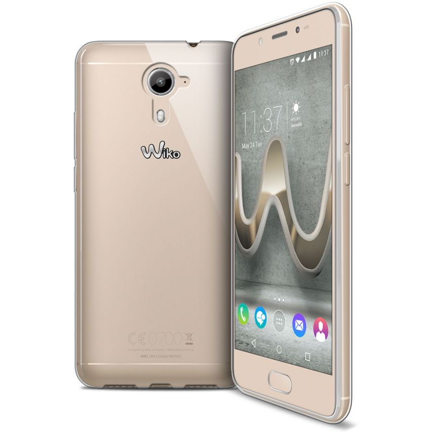 Extra Slim 1mm Crystal Clear View Flexible Case Wiko U Feel Prime