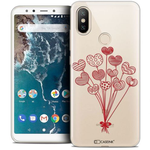 "Extra Slim Crystal Gel Xiaomi Mi A2 (5.99"") Case Love Ballons d'amour"