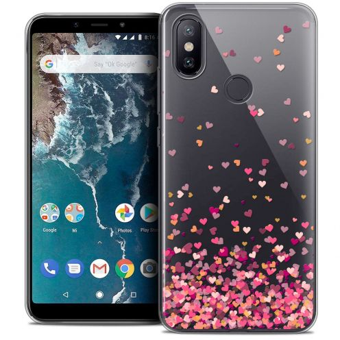 "Extra Slim Crystal Gel Xiaomi Mi A2 (5.99"") Case Sweetie Heart Flakes"