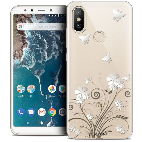 "Extra Slim Crystal Gel Xiaomi Mi A2 (5.99"") Case Summer Papillons"