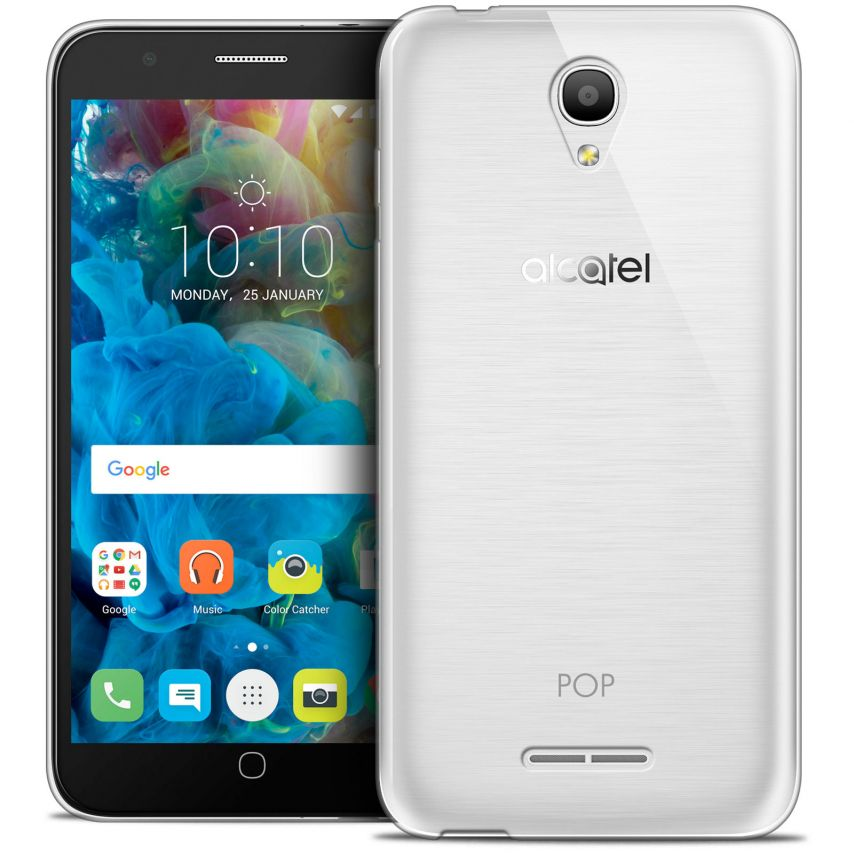 Extra Slim 1mm Crystal Clear View Flexible Case Alcatel Pop 4 (5.0)