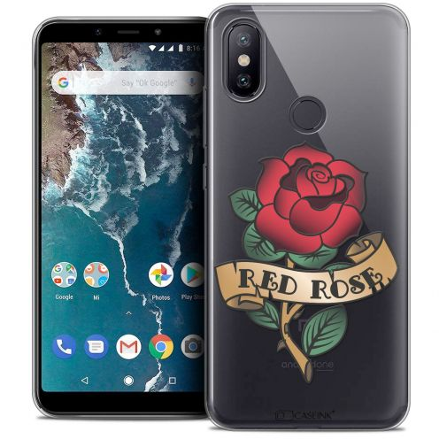 "Extra Slim Crystal Gel Xiaomi Mi A2 (5.99"") Case Tatoo Lover Red Rose"