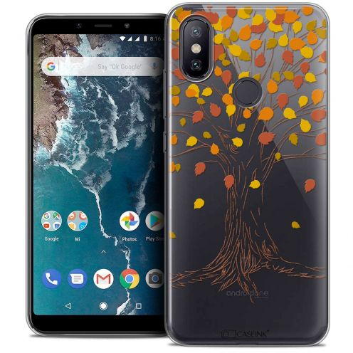 "Extra Slim Crystal Gel Xiaomi Mi A2 (5.99"") Case Autumn 16 Tree"