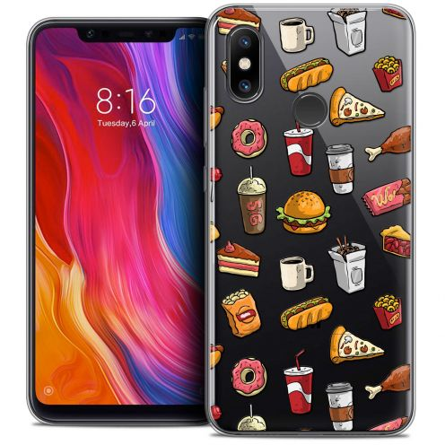 "Extra Slim Crystal Gel Xiaomi Mi 8 (6.21"") Case Foodie Fast Food"