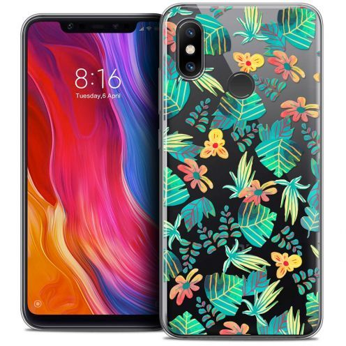 "Extra Slim Crystal Gel Xiaomi Mi 8 (6.21"") Case Spring Tropical"