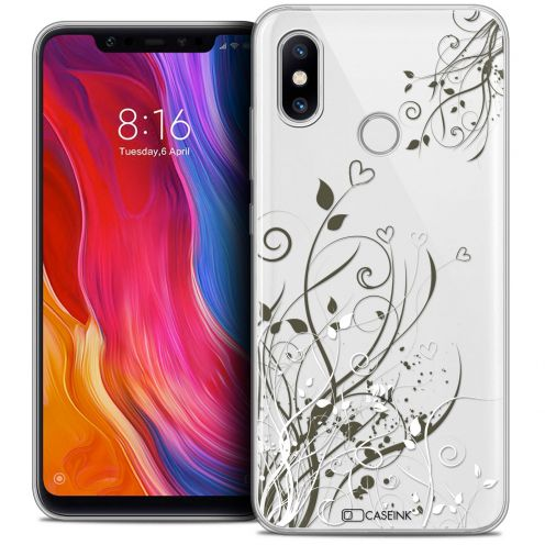 "Extra Slim Crystal Gel Xiaomi Mi 8 (6.21"") Case Love Hearts Flowers"