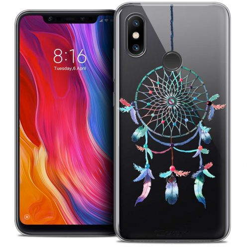 "Extra Slim Crystal Gel Xiaomi Mi 8 (6.21"") Case Dreamy Attrape Rêves Rainbow"