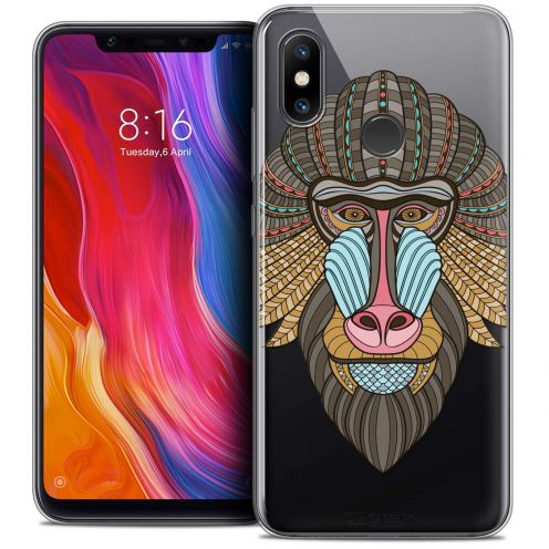 "Extra Slim Crystal Gel Xiaomi Mi 8 (6.21"") Case Summer Babouin"