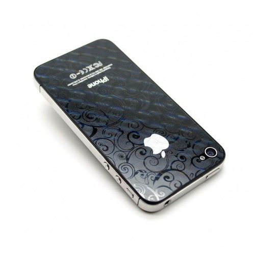 3D Screen protector stickers Circles front/back for iPhone 4/4S
