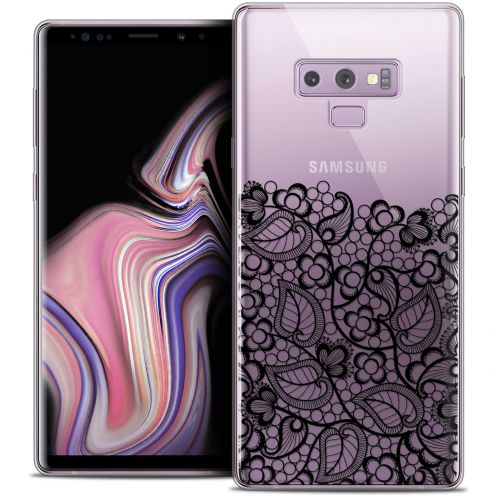 "Extra Slim Crystal Gel Samsung Galaxy Note 9 (6.4"") Case Spring Bas dentelle Noir"