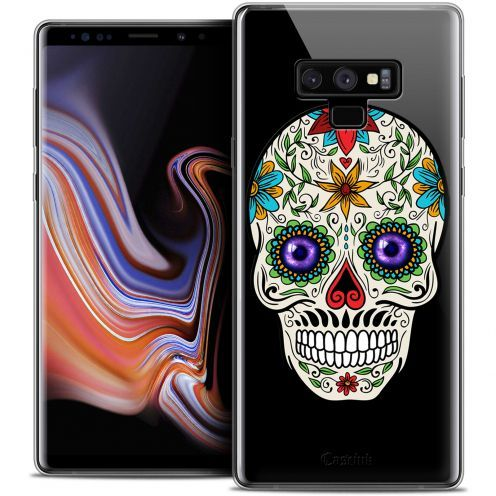 "Extra Slim Crystal Gel Samsung Galaxy Note 9 (6.4"") Case Skull Maria's Flower"