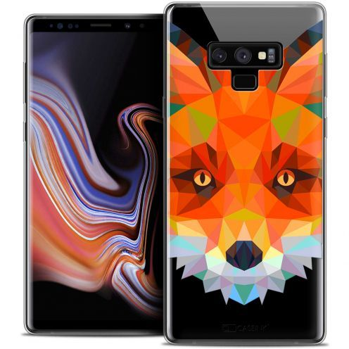 "Extra Slim Crystal Gel Samsung Galaxy Note 9 (6.4"") Case Polygon Animals Fox"