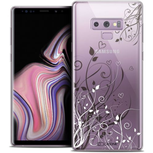 "Extra Slim Crystal Gel Samsung Galaxy Note 9 (6.4"") Case Love Hearts Flowers"