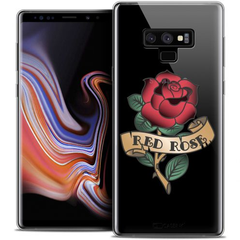 "Extra Slim Crystal Gel Samsung Galaxy Note 9 (6.4"") Case Tatoo Lover Red Rose"