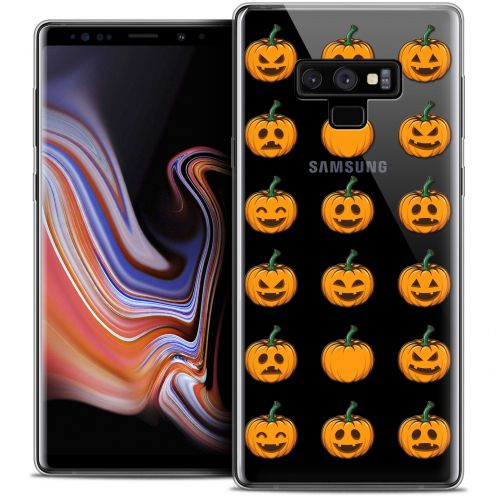 "Extra Slim Crystal Gel Samsung Galaxy Note 9 (6.4"") Case Halloween Smiley Citrouille"