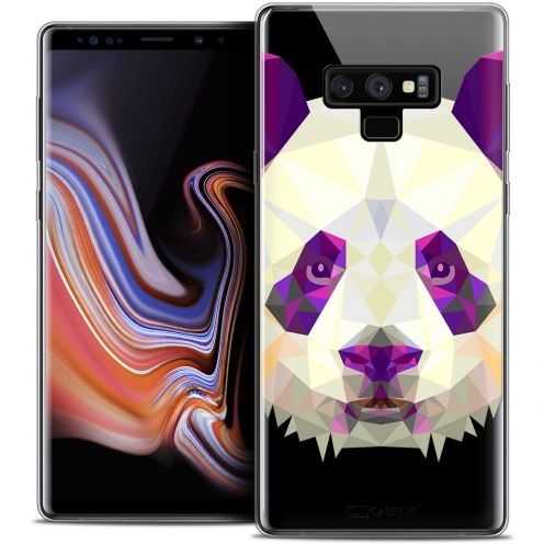 "Extra Slim Crystal Gel Samsung Galaxy Note 9 (6.4"") Case Polygon Animals Panda"