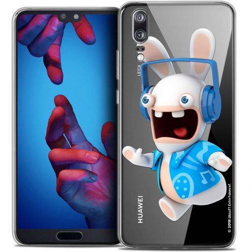 """Crystal Gel Huawei P20 (5.8"""") Case Lapins Crétins™ Techno Lapin"""