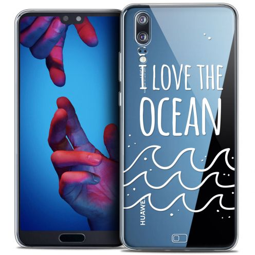 "Extra Slim Crystal Gel Huawei P20 (5.8"") Case Summer I Love Ocean"