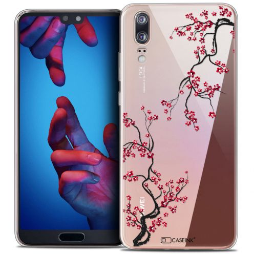 "Extra Slim Crystal Gel Huawei P20 (5.8"") Case Summer Sakura"