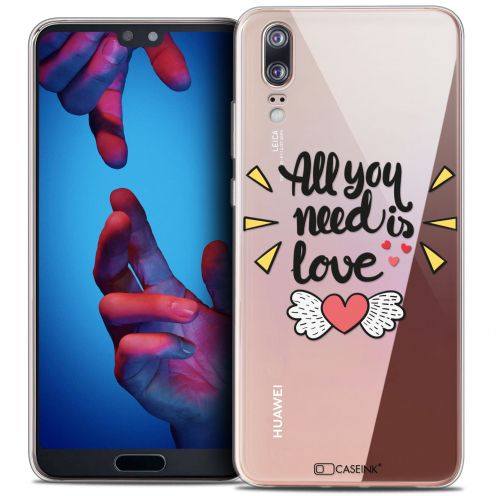 "Extra Slim Crystal Gel Huawei P20 (5.8"") Case Love All U Need Is"