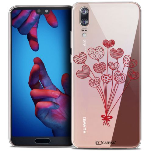"Extra Slim Crystal Gel Huawei P20 (5.8"") Case Love Ballons d'amour"