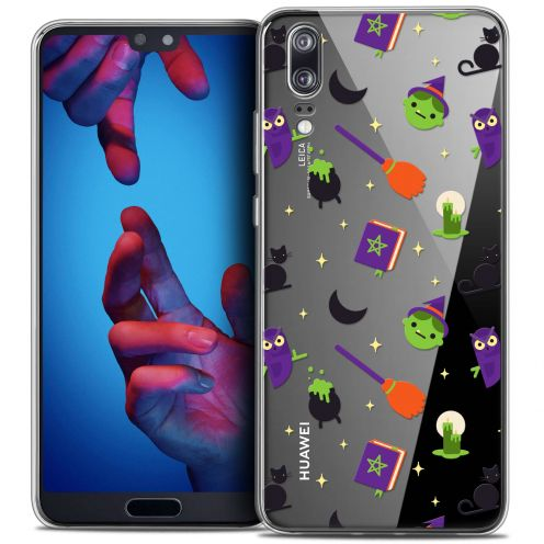 """Extra Slim Crystal Gel Huawei P20 (5.8"""") Case Halloween Witch Potter"""