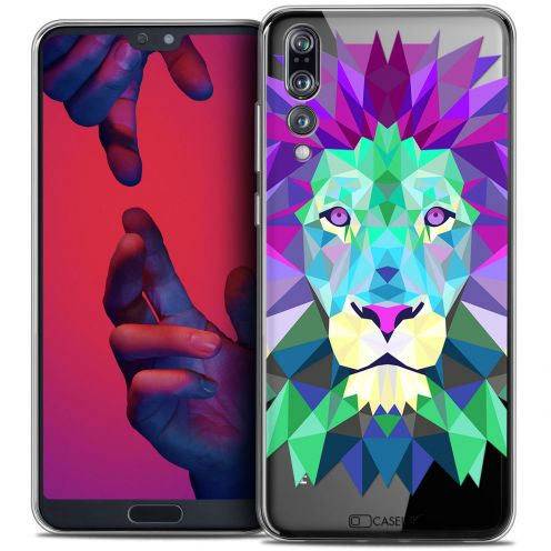 "Extra Slim Crystal Gel Huawei P20 PRO (6.1"") Case Polygon Animals Lion"