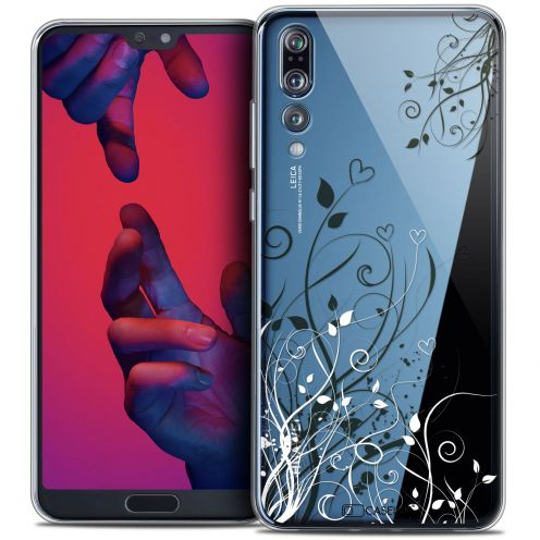 "Extra Slim Crystal Gel Huawei P20 PRO (6.1"") Case Love Hearts Flowers"