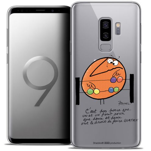 "Extra Slim Crystal Gel Samsung Galaxy S9+ (6.2"") Case Les Shadoks® Mathématique"