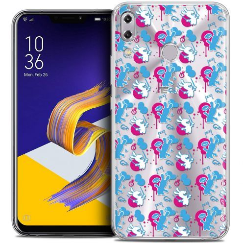 """Crystal Gel Asus Zenfone 5z ZS620KL (6.2"""") Case Lapins Crétins™ Rugby Pattern"""