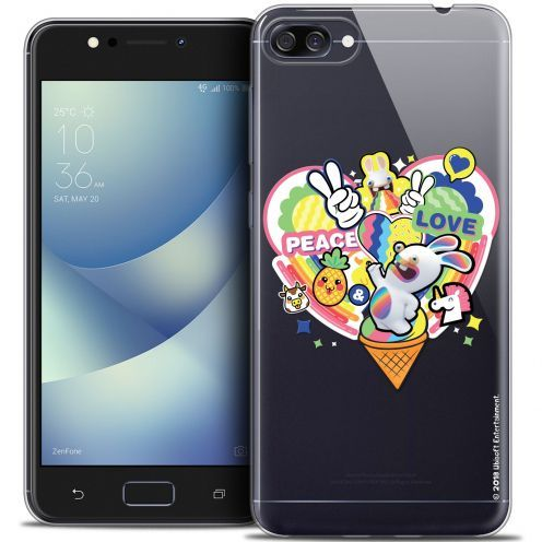 """Crystal Gel Asus Zenfone 4 MAX ZC520KL (5.2"""") Case Lapins Crétins™ Peace And Love"""