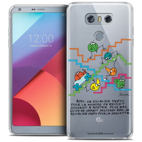 Extra Slim Crystal Gel LG G6 Case Les Shadoks® L'escalier