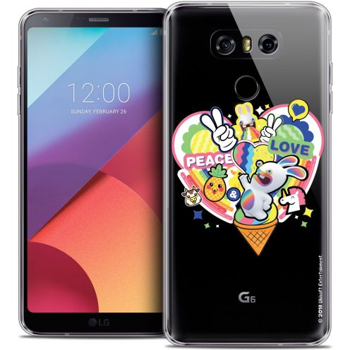 Crystal Gel LG G6 Case Lapins Crétins™ Peace And Love