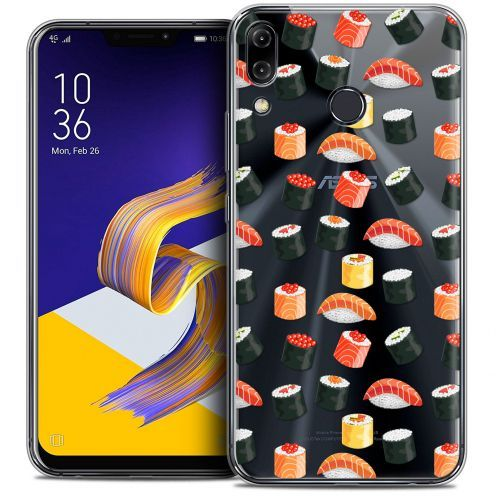 "Extra Slim Crystal Gel Asus Zenfone 5z ZS620KL (6.2"") Case Foodie Sushi"