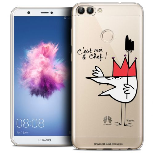 """Extra Slim Crystal Gel Huawei P Smart (5.7"""") Case Les Shadoks® Le Chef"""