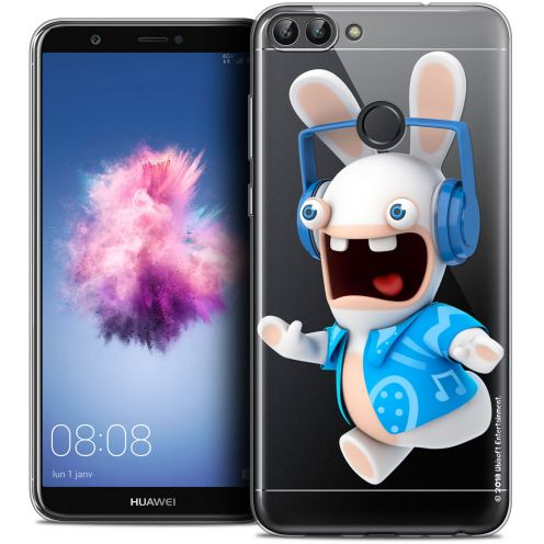 """Crystal Gel Huawei P Smart (5.7"""") Case Lapins Crétins™ Techno Lapin"""