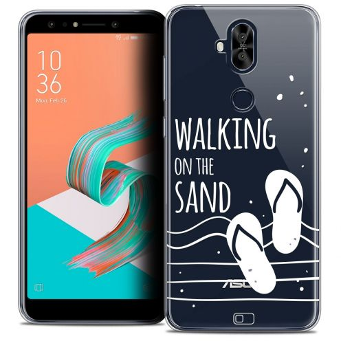 "Extra Slim Crystal Gel Asus Zenfone 5 LITE ZC600KL (6.0"") Case Summer Walking on the Sand"