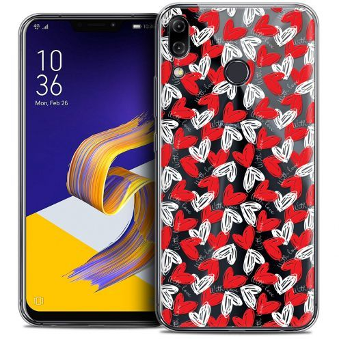 """Extra Slim Crystal Gel Asus Zenfone 5z ZS620KL (6.2"""") Case Love With Love"""