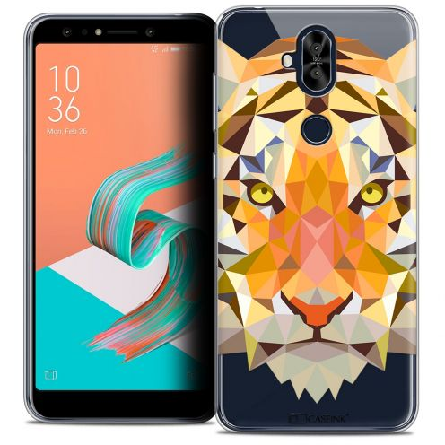 "Extra Slim Crystal Gel Asus Zenfone 5 LITE ZC600KL (6.0"") Case Polygon Animals Tiger"