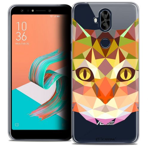 "Extra Slim Crystal Gel Asus Zenfone 5 LITE ZC600KL (6.0"") Case Polygon Animals Cat"