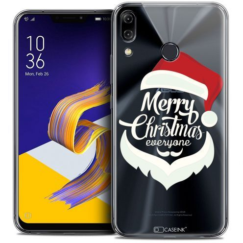 "Extra Slim Crystal Gel Asus Zenfone 5z ZS620KL (6.2"") Case Noël 2017 Merry Everyone"
